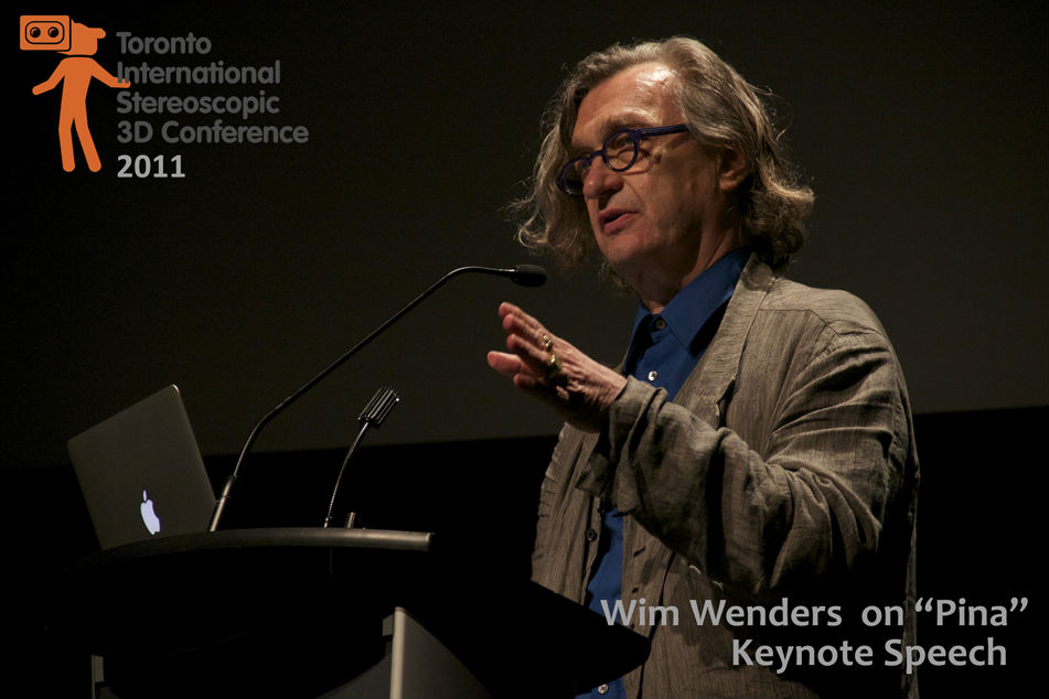 "Wim Wenders on ""Pina"" Keynote speech. Toronto International Stereoscopic 3D conference 2011"